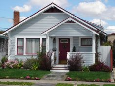 #1 -- This will be our new exterior paint scheme for 27th St house. See #2 for existing color scheme (pink!)