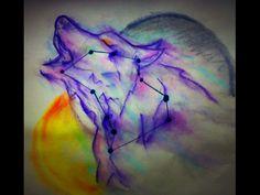 Magic wolf  🌕 🐺 Format: A3 Color pastels