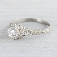 Image of 1.09 Carat Edwardian Engagement Ring  THIS IS THE RING!!!!!!!!!!!