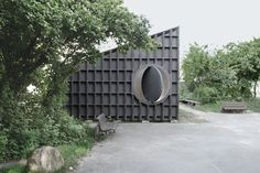 Image 7 of 9 from gallery of Best Room Pavilion / EAST + Aff Architekten. Photograph by Sebastian F. Lausanne, Building Costs, Barn Garage, Building Exterior, Exterior Houses, Ceiling Height, Cool Rooms, Prefab, Open Up