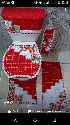 Crochê Decora & Veste: Jogo de Tapetes para Banheiro Com Gráfico #1