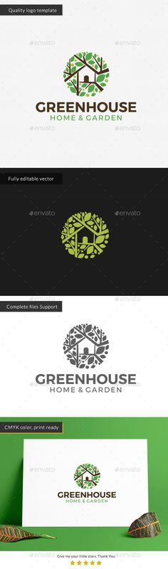 Green #House Logo Template - Nature #Logo Templates Download here:  https://graphicriver.net/item/green-house-logo-template/20360207?ref=alena994