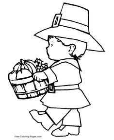 Printable Thanksgiving coloring sheets 30