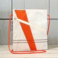 Nautical cross body purse made from recycled sails - for all your friends with yachts | by HoistAwayBags, $55.00