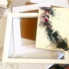 """Zhanna Abstract Artist (@zhanna_abstract) on Instagram: """"Finally framing my """"Black & White Experiments"""" series. What do you think of this white shadow box…"""" White Shadow Box, Abstract Art, Black And White, Frame, Artist, Instagram, Home Decor, Picture Frame, Decoration Home"""