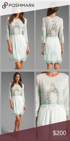 ❤️Dolce Vita Lace Dress❤️ Oh man, so pretty! Brand new without tags, paid $275! I will only consider reasonable offers through the offer button, NO TRADES!   This crew-neck, cotton-silk dress features tonal embroidery and sheer lace insets. 3-button closure at back and hidden zip on the side. Pleated waist and 3/4 sleeves. Sheer at bodice and lined at skirt.  Fabric: Cotton voile. 70% cotton/30% silk. Dry clean. Length: 34in / 86.5cm, from shoulder Anthropologie Dresses