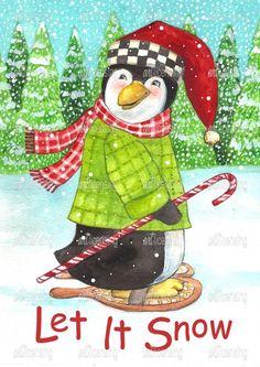 Penguin Let it Snow | Art Licensing