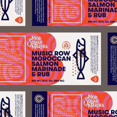 Dribbble - mod_squad_martha_moroccan_marinade_j_fletcher_detail.jpg by Jay Fletcher Brand Identity Design, Graphic Design Posters, Corporate Design, Graphic Design Typography, Branding Design, Business Design, Web Design, Book Design, Layout Design