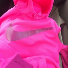 Pink Nike hoodie<3