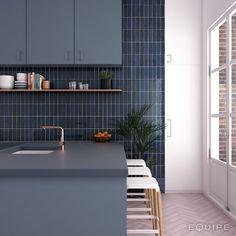 Subway Tile Colors, Subway Tile Patterns, Blue Subway Tile, Ceramic Subway Tile, Blue Tiles, Color Tile, Tiles Direct, Tuile, Look Retro