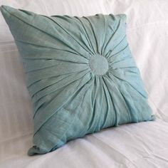 This linen and cotton-blend throw pillow refreshes with a cool ocean hue.Construction Material: Linen and cotton Color: Oce...