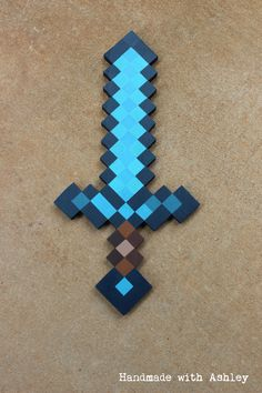 Steps for a DIY Minecraft sword made from wood.                                                                                                                                                      More