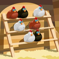 Chicken Coop - Poules dorment sur un perchoir dans un poulailler Building a chicken coop does not have to be tricky nor does it have to set you back a ton of scratch. Chicken Coop Designs, Diy Chicken Coop Plans, Portable Chicken Coop, Best Chicken Coop, Backyard Chicken Coops, Building A Chicken Coop, Chickens Backyard, Simple Chicken Coop, Cute Chicken Coops