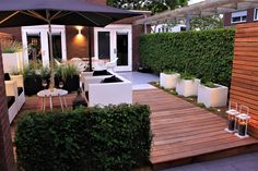 Landscaping ideas for backyard modern patio design ideas Modern Patio Design, Contemporary Garden Design, Small Garden Design, Backyard Patio Designs, Backyard Landscaping, Landscaping Ideas, Backyard Ideas, Back Gardens, Garden Inspiration