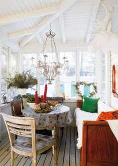 Christmas in Swedish house Swedish Style, Swedish House, Swedish Interiors, Scandinavian Interior, Best Interior, Interior Styling, Interior Design, Gazebo On Deck, Home Porch