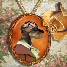 Dachshund - Teckel Schmuck Anhänger Porzellan von Nobility Dogs auf DaWanda.com