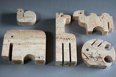 Travertin Marmor Enzo Mari Tiere Figuren 70er • EUR 225,00 - PicClick AT