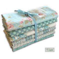 Tilda Spring Lake Fat Quarter Bundle 6pce - Set B - Tilda - Spring Lake - Fabric