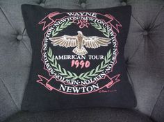 Wayne Newton Tshirt Pillow made from a VINTAGE by THEPASTUREROAD