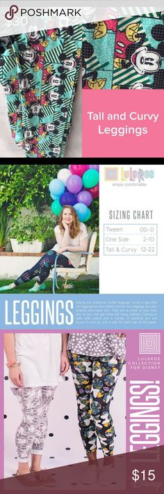 """Brand new Lularoe TC Disney leggings Mickey Mouse Having the nickname """"butter leggings"""" is just a sign that our leggings are the softest around. Our leggings are ultra stretchy and super soft. They are as close to your own skin as you can get while still being clothed. Coming in both solid colors and a variety of patterns you are bound to end up with a pair for each day of the week. LuLaRoe Pants Leggings"""