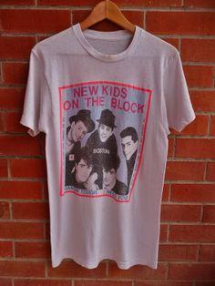 7280226c875f5 Vintage NKOTB New Kids on the block Hangin by THRIFTEDISABELLE