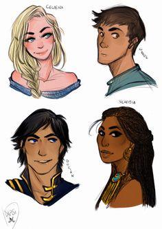 Caleana/Aelin, Chaol, Dorian, and----NEHEMIA