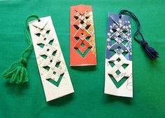 These bookmarks are so pretty, they could easily double as ornaments next holiday season. The great news is they are not nearly as complicated as they look! Head over to the  Goodsmiths craft blog for the very simple tutorial and  Lori Miller will show you how!  Photo  via Goodsmiths