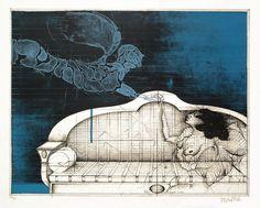 Der Blaue Engel (The Blue Angel) by Paul Wunderlich