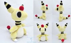 Ampharos Poketime Plush by dollphinwing
