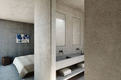 Minimalist Bedroom in Cap d'Antibes, FR by Nicolas Schuybroek architects