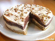 ! ... Ikke mine ord, altså;-) Men dette er nå engang navnet på denne helt spesielle kaken som har blitt ENORMT POPULÆR i Amerika. Kaken finnes i et par ulike varianter - noen lyse og noen mørke. Denne versjonen er nærmest som en dessertkake og inneholder ikke noe kakedeig. Bunnen er basert på pecannøtter, og deretter består kaken av et hvitt fyll som lages med kremost, melis og crème fraîche og et mørkt fyll bestående av deilig sjokoladepudding. Og selv om du skulle være av den sorten som…