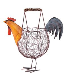 Look at this Rooster Basket on #zulily today!