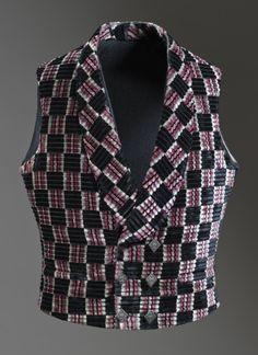 Man's Vest England, circa 1845 Costumes; principal attire (upper body) Silk cut and uncut velvet on twill foundation