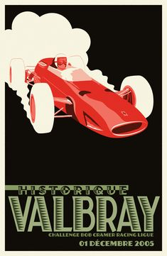 BAPOM Poster 'valbray' - part of a collection of race posters for the game Grand Prix Legends. Higher res versions available on the website.  Circuit de Valbray