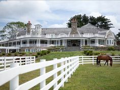 Horse Farm. Beautiful Greenwich Horse Farm with stables.