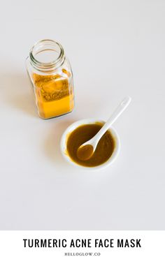 Turmeric Acne Mask + Turmeric Smoothie Recipe | HelloGlow.co