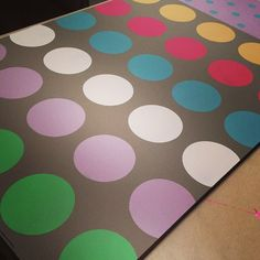 Twister anyone? Our Dot Dot Dot Polkadot Stencil and fun Chalk Paint® colors on Coco.