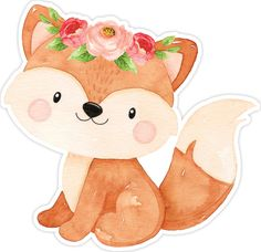 Forest Animals, Woodland Animals, Baby Animals, Cute Animals, Baby Animal Drawings, Fox Art, Woodland Party, Woodland Creatures, Animal Party