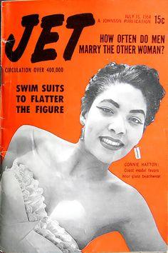 Jet Magazine Models   Connie Hatton Models Swimwear - Jet Magazine July 15, 1954