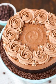 Chocolate Mousse Cake and beautyful decoration idea