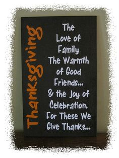 """Thanksgiving Wood Sign; Custom Sign, Family, Inspirational; Holiday Sign; Subway Art; Home Decor; Vinyl Lettering, 16"""" x 26""""; on Etsy, $30.00"""