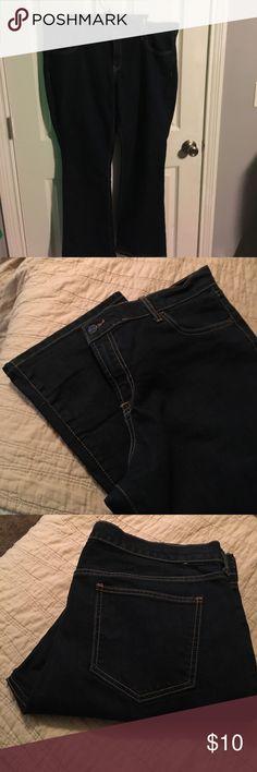 size 16 Old Navy Flirt Jeans Never worn Size 16 Old Navy Flair Jeans Dark Denim Old Navy Pants Wide Leg