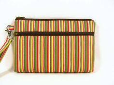 Stripes cosmetic bag gift for her makeup pouch by purseNmore