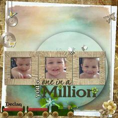 Grab this digital scrapbooking kit and create a perfect scrapbook layout from a special moment you have with your loved one. Digital Scrapbooking Freebies, One In A Million, Word Art, Photo Book, Scrapbook Paper, Clip Art, Cards, Parents, Card Making