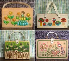 Enid Collins vintage handbags..they are fabulous