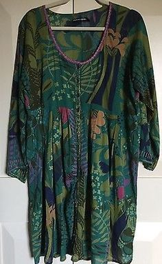 Gudrun Sjoden Blue multi coloured cotton/liscose dress size L in Clothes, Shoes & Accessories, Women's Clothing, Tops & Shirts | eBay!