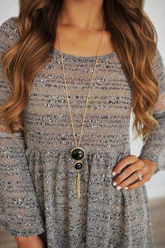 Dottie Couture Boutique - Pendant Necklace- Black, $12.00 (http://www.dottiecouture.com/pendant-necklace-black/)