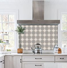 Kitchen and Bathroom Splashback - Removable Vinyl Wallpaper - Hamra Beige - Peel & Stick - Stacy Floyd Decor, Vinyl Wallpaper, Vinyl Tile, Sophisticated Tile, Smooth Walls, Kitchens Bathrooms, Removable Wallpaper, Bathroom Splashback, Removable Wallpaper Bathroom