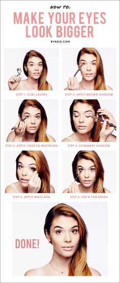 How to make your eyes look bigger: an easy, 7-step tutorial with celebrity makeup artist Lauren Andersen. // #beauty #tutorial #makeup How to apply makeup correctly, info here: http://crazymakeupideas.com/12-nail-art-ideas-for-your-toes/