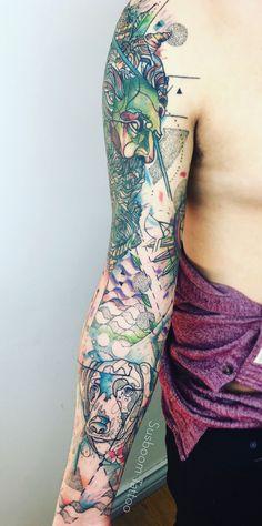 Full Arm Tattoo by Susboom Tattoo